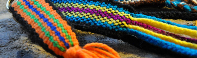 Fragmenty dwóch kolorowych krajek