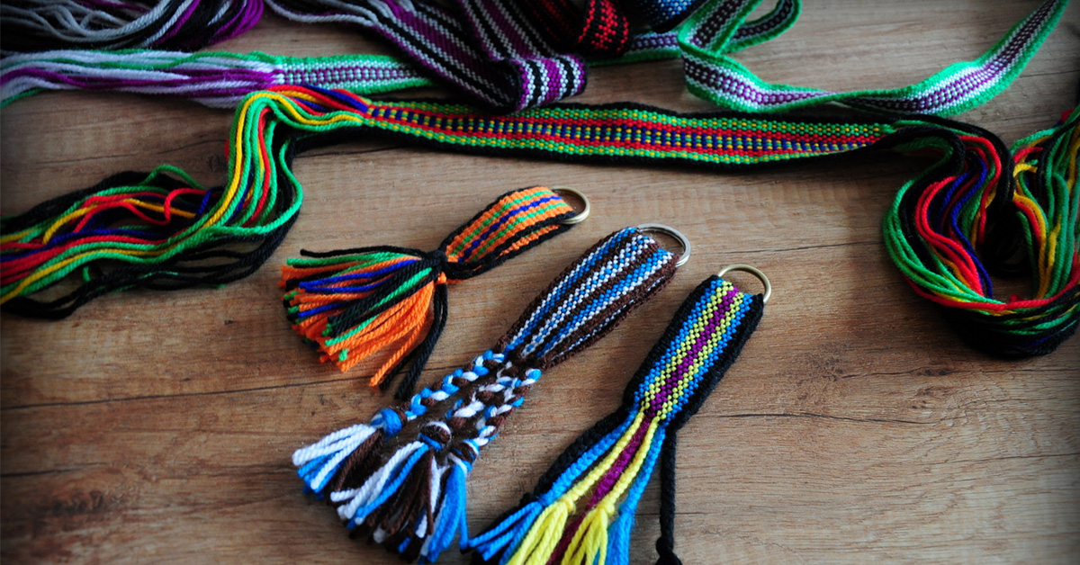 kolorowe paski zwane krajkami