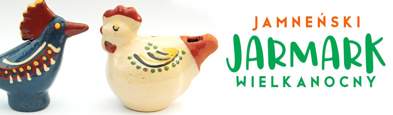 ptaszek i kurka z ceramiki Jamneński Jarmark Wielkanocny