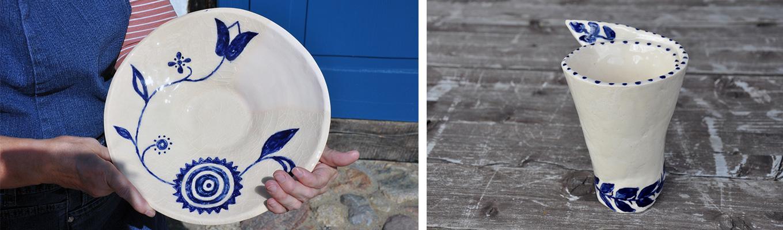 przykład zdobienia ceramiki ornamentem